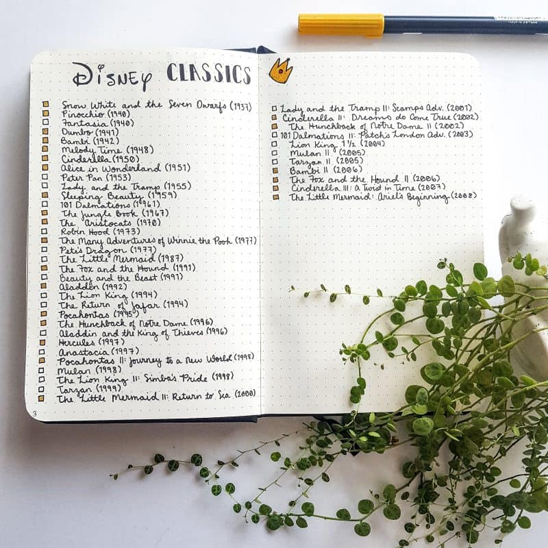 30+ Super Trackers For Your Planner: Daily, Monthly, Yearly | Disney Movie collection | Jihi Elephant for pageflutter.com
