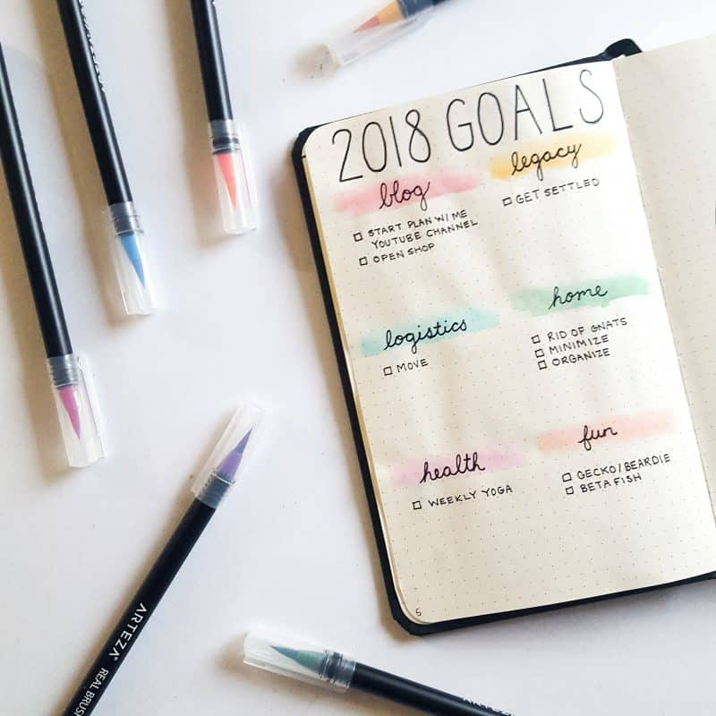 30+ Super Trackers For Your Planner: Daily, Monthly, Yearly | 2018 Goals | Jihi Elephant for pageflutter.com