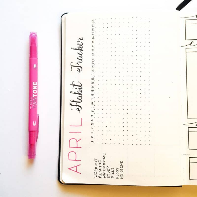 30+ Super Trackers For Your Planner: Daily, Monthly, Yearly | April habit tracker | Jihi Elephant for pageflutter.com
