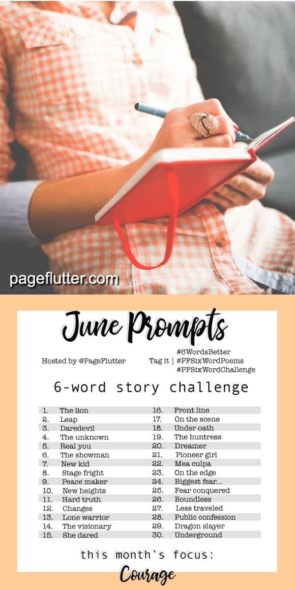 Year to a Better You-June 6-Word Story Challenge |pageflutter.com