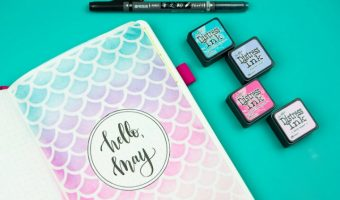 Super Easy Stencil + Distress Ink Tutorial: Mermaid Journal Cover Page