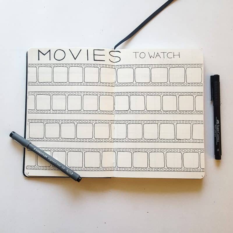 30+ Super Trackers For Your Planner: Daily, Monthly, Yearly | movie | Jihi Elephant for pageflutter.com