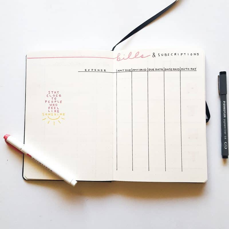 30+ Super Trackers For Your Planner: Daily, Monthly, Yearly | pink bill tracker | Jihi Elephant for pageflutter.com