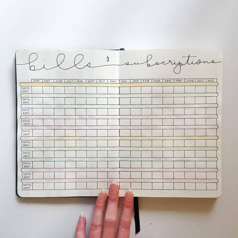 30+ Super Trackers For Your Planner: Daily, Monthly, Yearly | rainbow bill track | Jihi Elephant for pageflutter.com