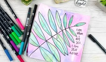 Watercolor Art Journaling with Tombow Dual Brush Pens!