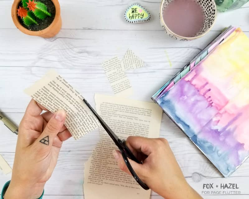 Art Journaling with Vintage Book Pages | Fox + Hazel for PageFlutter.com