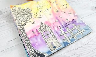 Art Journaling with Vintage Book Pages