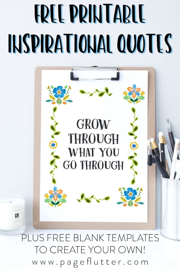 photo regarding Quotes Printable known as No cost Printable Inspirational Offers + Totally free Template! Web page