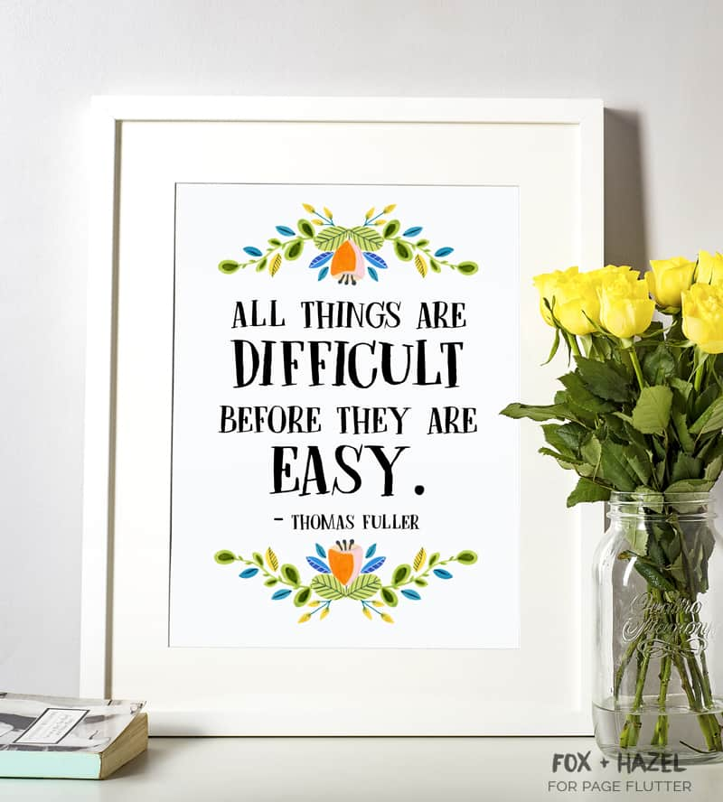 Free Printable Inspirational Quotes - Fox + Hazel for Page Flutter