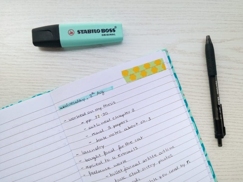Do you keep a DONE list? This reverse TO-DO list is a great addition to your planning routine! #BulletJournal #planneraddict #productivity