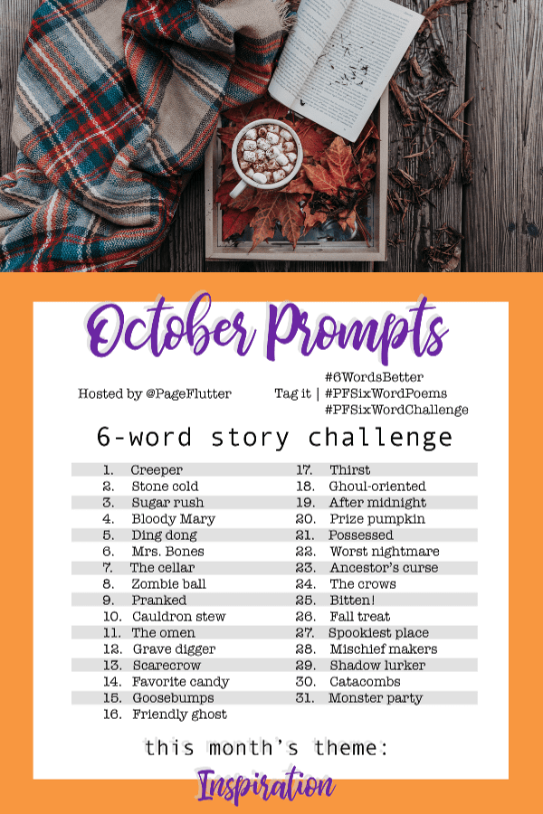 Year to a Better You-October 6-Word Story Prompts |pageflutter.com #6WordsBetter #journaling #6wordstory